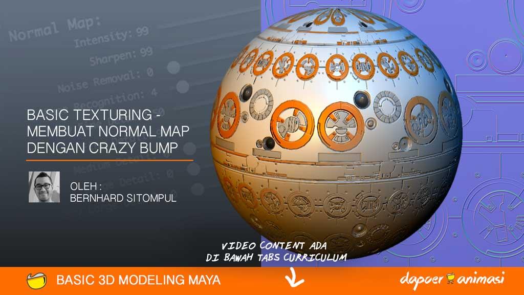 Dapoer Animasi : Basic 3D Texturing – Membuat Normal Map dengan Crazy Bump