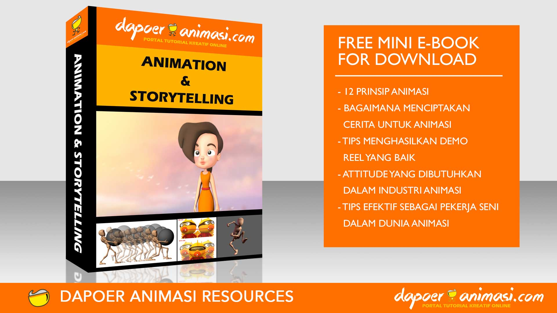 Dapoer Animasi : Free Mini E-book for Download : Animation & Storytelling E-Book