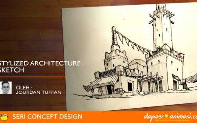 Dapoer Animasi  : Stylized Architecture Sketch