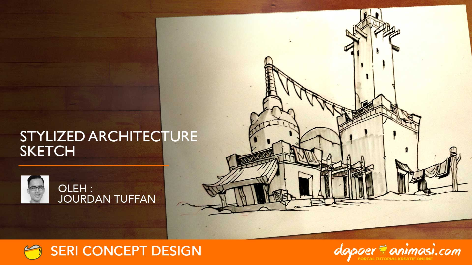 Dapoer Animasi  : Stylized Architecture Sketch