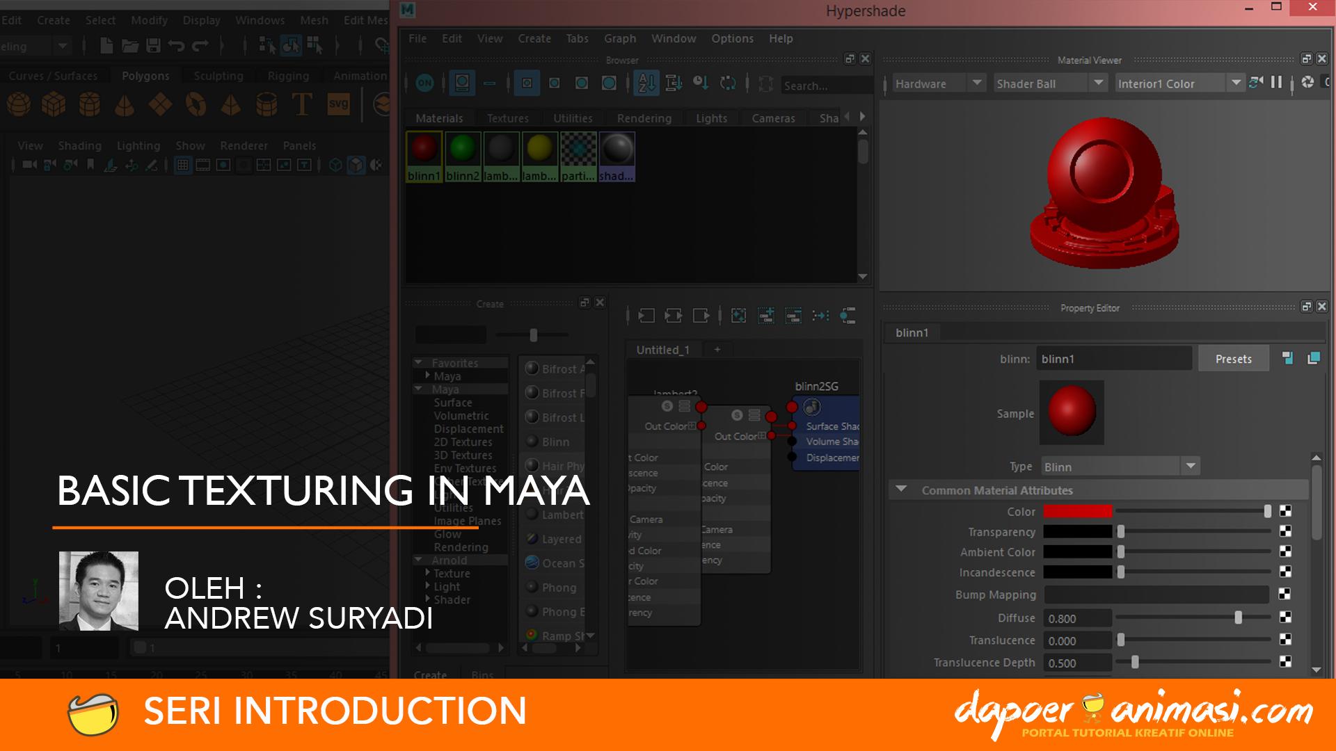 Dapoer Animasi : Basic Texturing in Maya