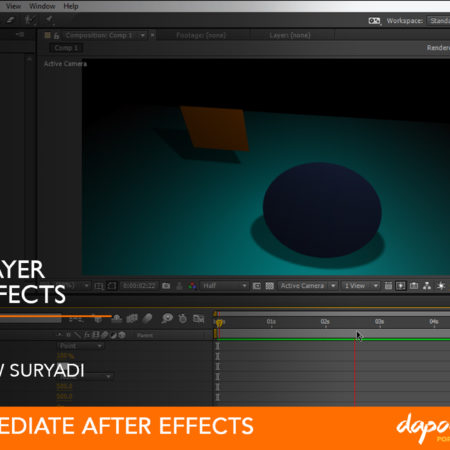 Dapoer Animasi : Basic 3D Layer in After Effects